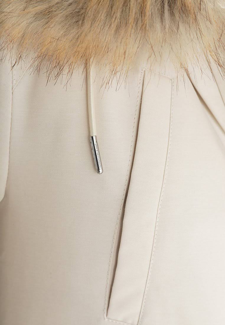 Weiß Damen Xs Haferflocken Calvin Größe Daunenmantel Weight Mid Klein Jeans Grau xxTZBF