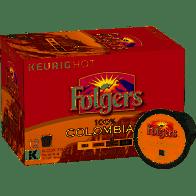Folgers K-Cups, 100% Colombian Coffee, Medium-Dark Roast - 12 ct.