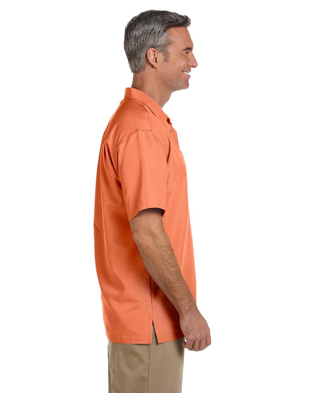 Harriton Extra Con Campo Smal M560 Barbados De Hombre Nectarina Textura Camisa Para ItvBvxrw