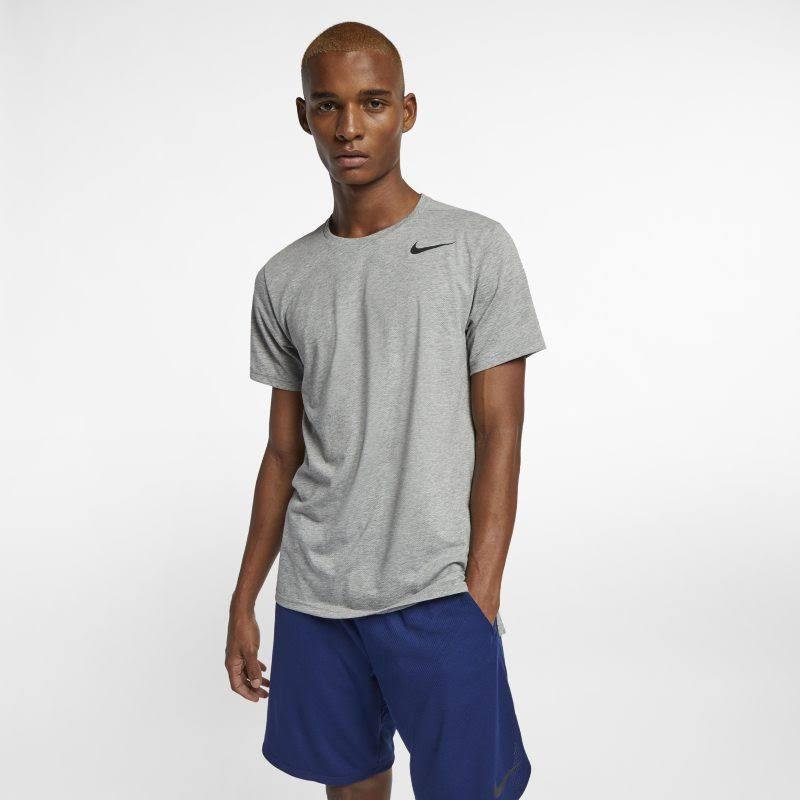 Nike Gris Manga Breathe Corta Hombre Alto Para Top De Entrenamiento wRqxpwAv