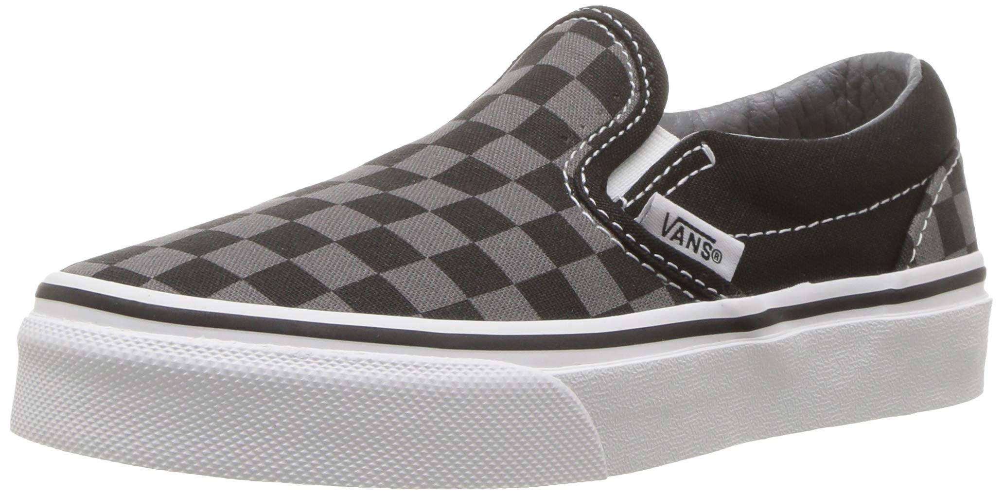 10 on Negro Checkerboard 5 Slip Niños Para Classic Zapatillas Gris Vans nfawqzCPxY