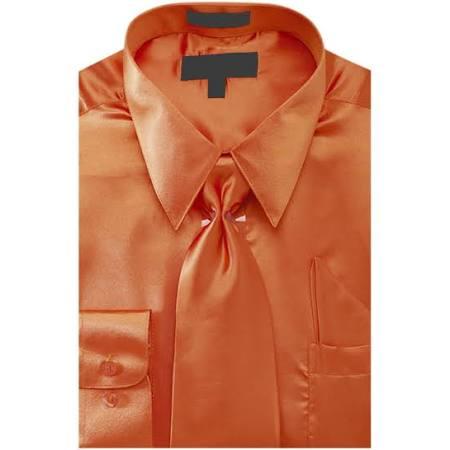 Sunrise Rost Hemd Set rst ds3012np2 Krawatte Ntp Herren 3435 Einstecktuch 155 Und Kleid Outlet Satin Einfarbig Zr4qTZ
