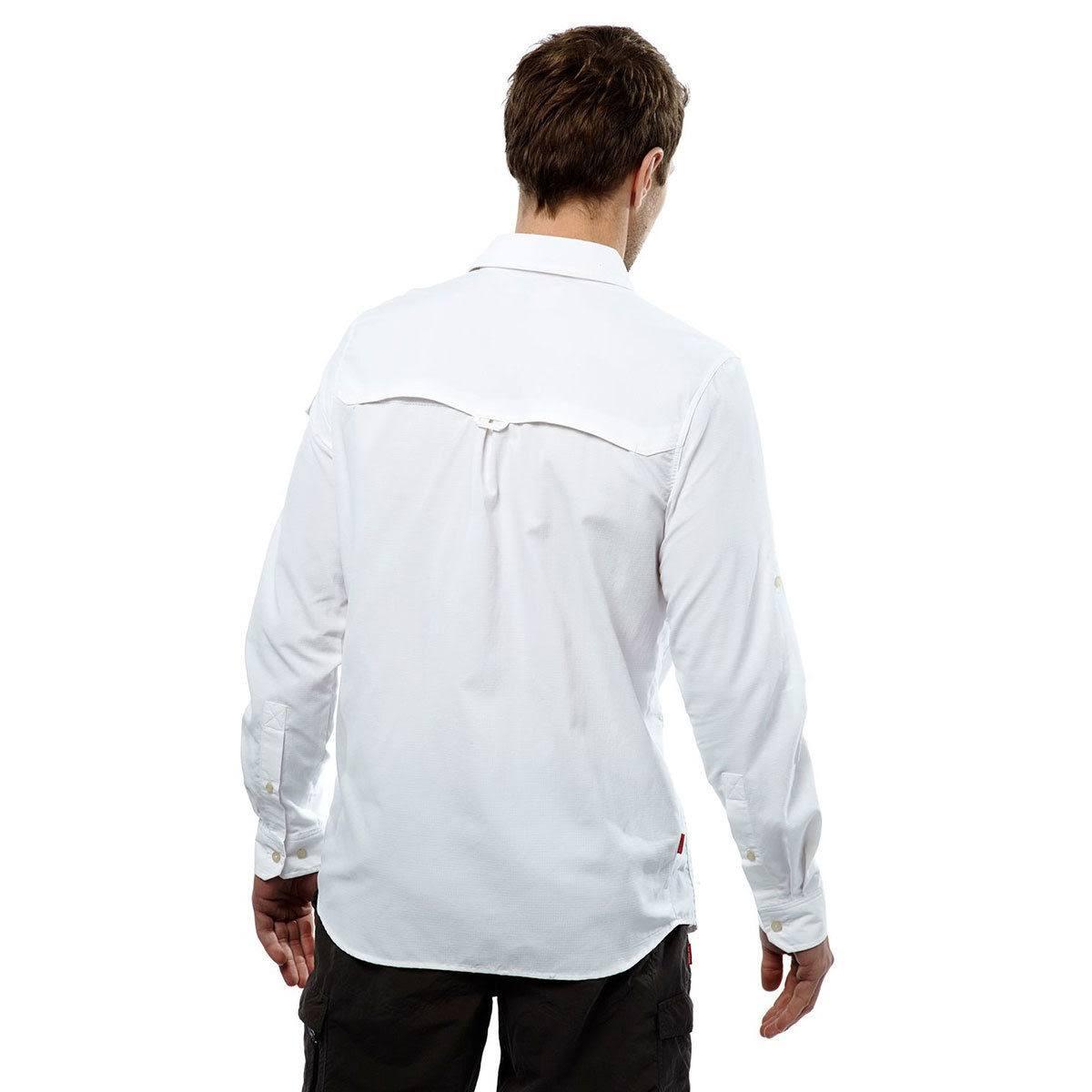 Nl Adv Craghoppers Cms597 White Xl Manga Larga 3er80 Optic Camiseta De xwAnqXCBAI