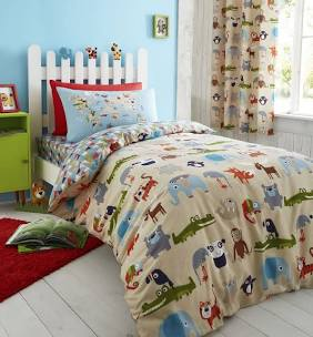 Catherine Lansfield Animal Kingdom Easy Care Single Duvet Set Multi