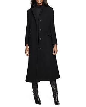 Ralph Lauren Reefer Schwarz Coat Maxi wHqgFxqa