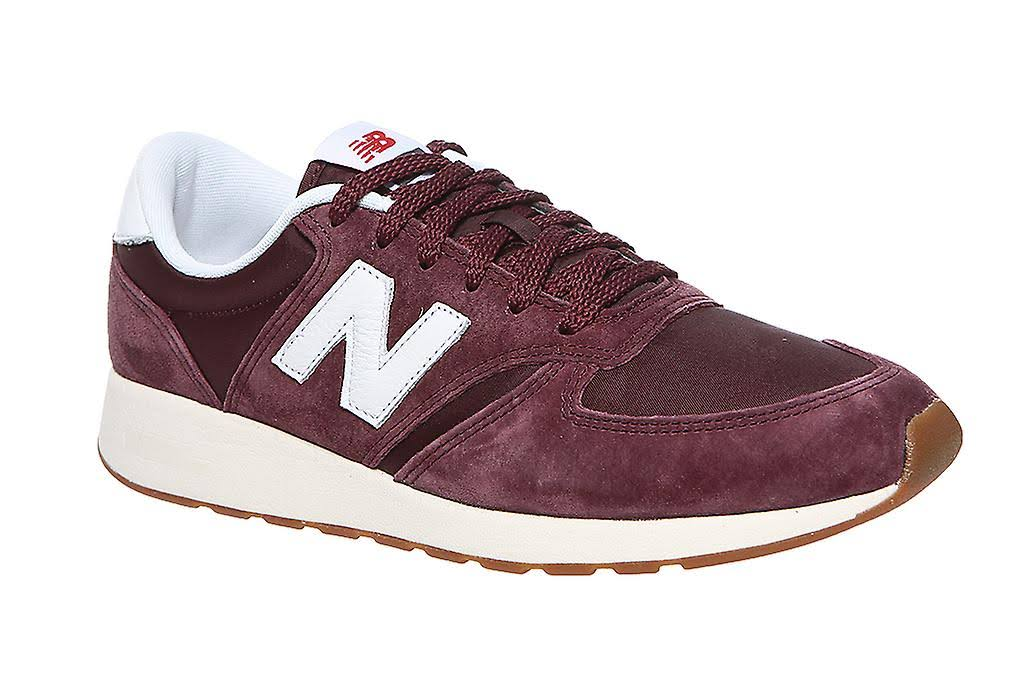 Burgundy Suede Trainer Balance 3 8 Size 5 6 Leather Mrl420ss Size New white Mens pWRnxHww