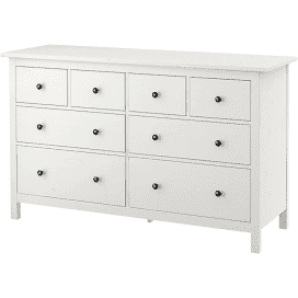 IKEA HEMNES White Stain 8-drawer dresser