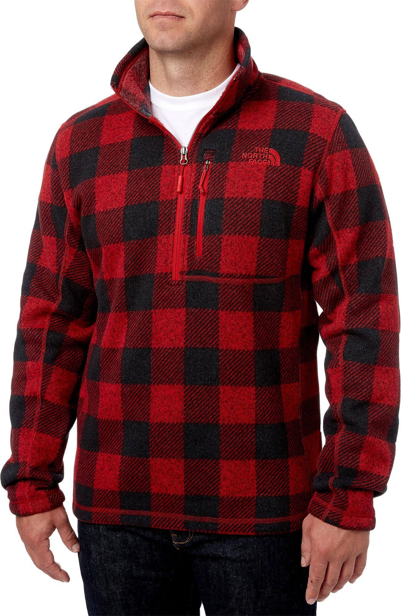 The Pullover Zip Neuheit Fleece Größe Lyons North Gordon Face 1 4 Herren Large UqnU6wrxv