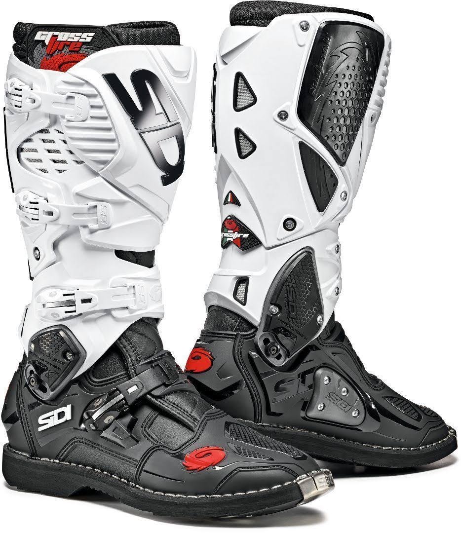 3 cross Stivali bianchi da Crossfire Sidi neri 40 n0k8wPXNO