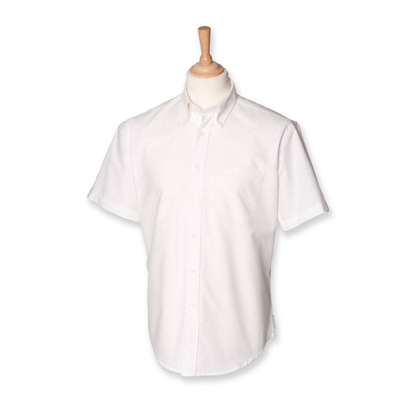 Oxford Kurzärmliges Klassisches Henbury Weiß hemd qEdwAdv