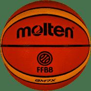 Ballon de Basket Molten GM7X Orange Taille 7, Ballon de Basket livré Gonflé