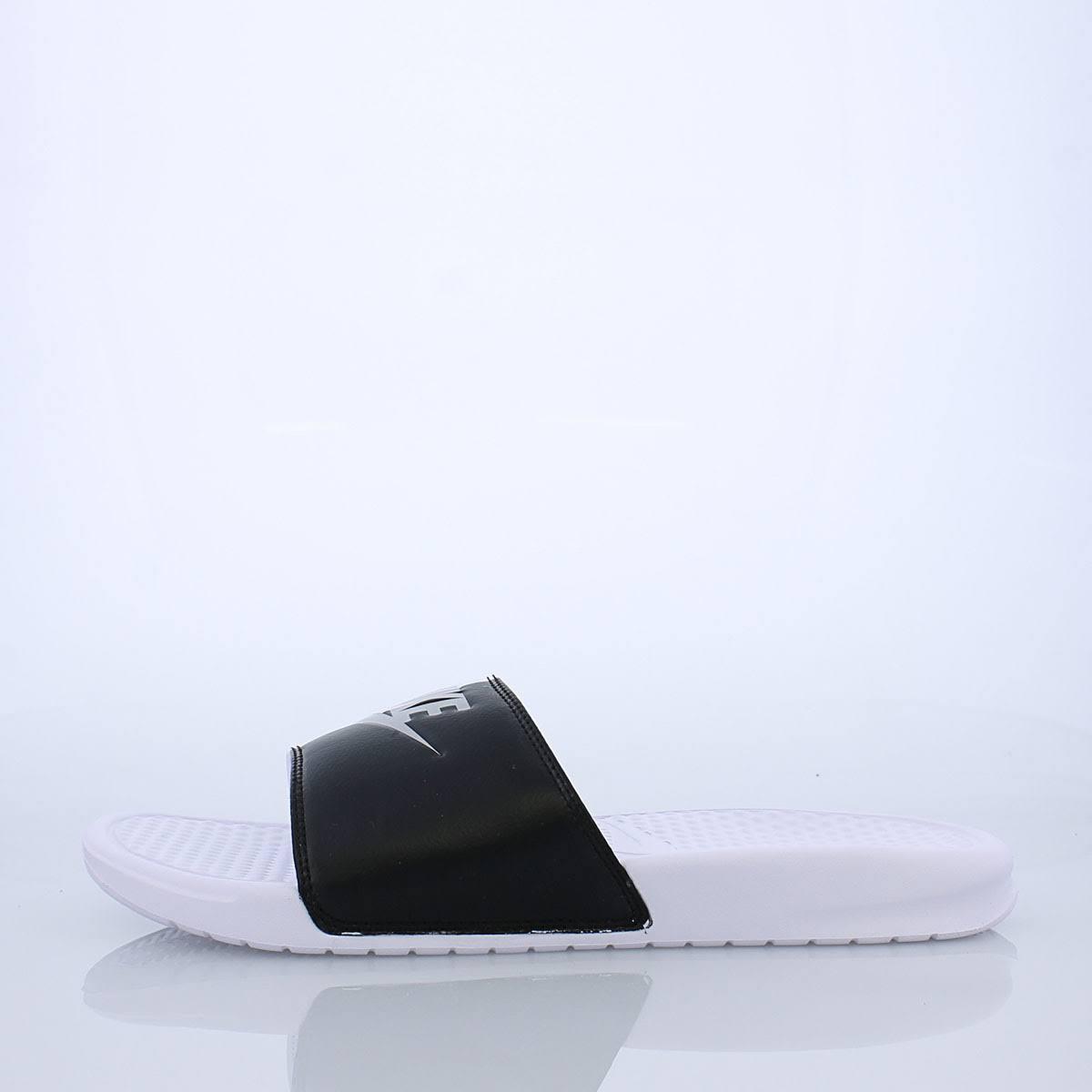 Slide Benassi Platin Jdi 343880104 Nike Schwarz 11 Größe Weiß Reines Herren OPxwE7H