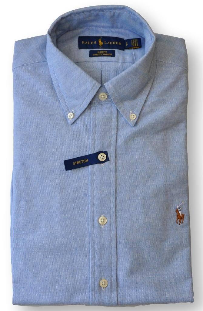 Stretch Azul Ralph Fit Slim Hombres Lauren Regular Shirt Grande Azul Oxford Polo Sport wtSxRR