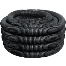 ADS 4-in x 100-ft Corrugated Perforated Pipe in Black | 04010100