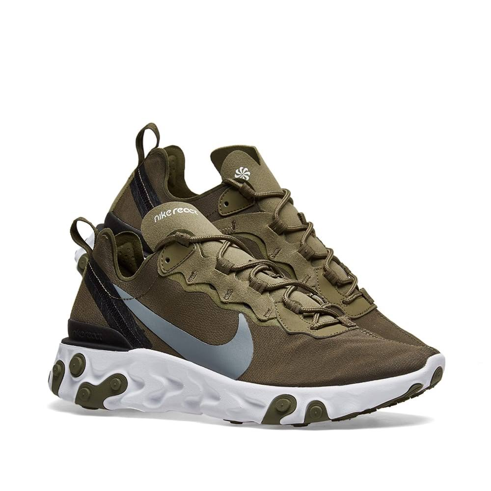 55 Grey amp; Black White Nike Element amp; React Olive nqwSOOEIY