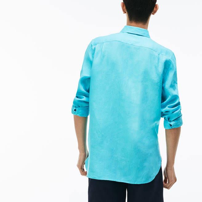 Herren Farbe Button Die Wählen Solid Linen Down Größe Sie Lacoste Langarm 7dwa11