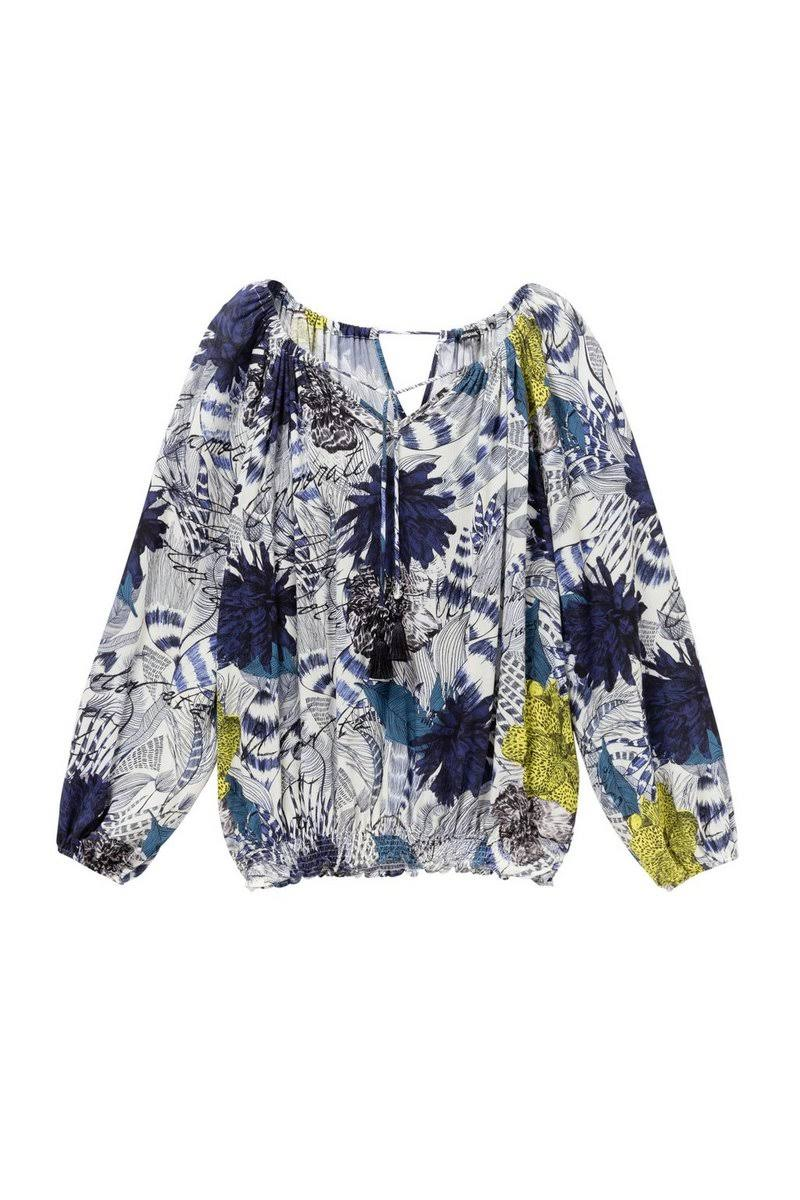 Desigual Ärmel Ärmel Lange Lange Blumendruck Desigual Blumendruck bluse bluse Blumendruck bluse Desigual q0xC01U