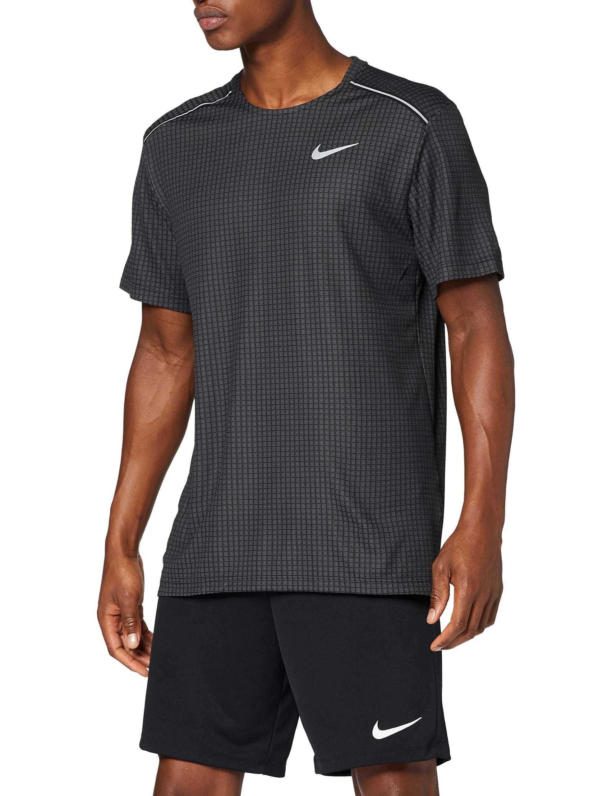 Nike Miler Tech Men Running Top M Black  2Tm8Qrf