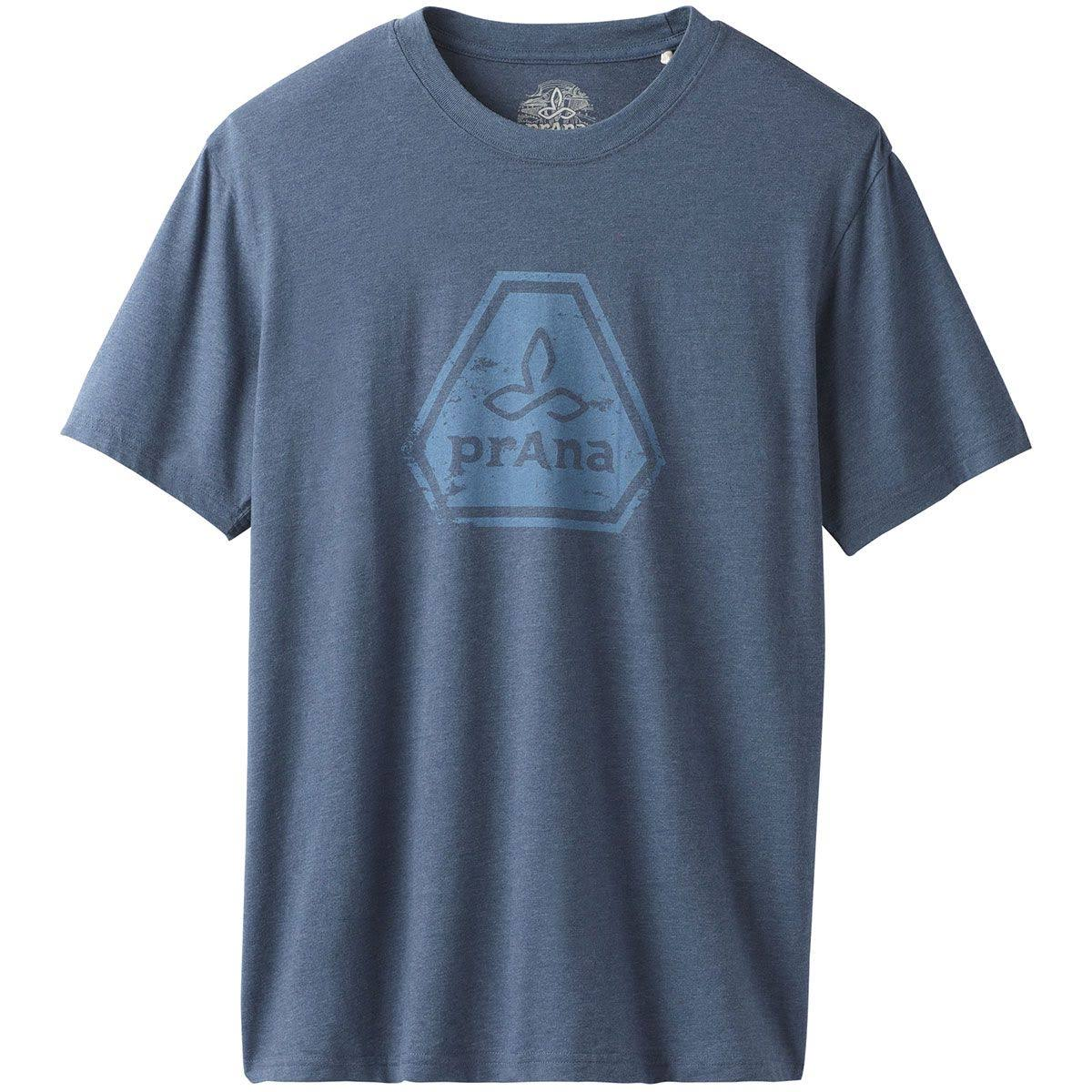 Para Camiseta Icon Azul Hombre L Prana xw6FEwSqR