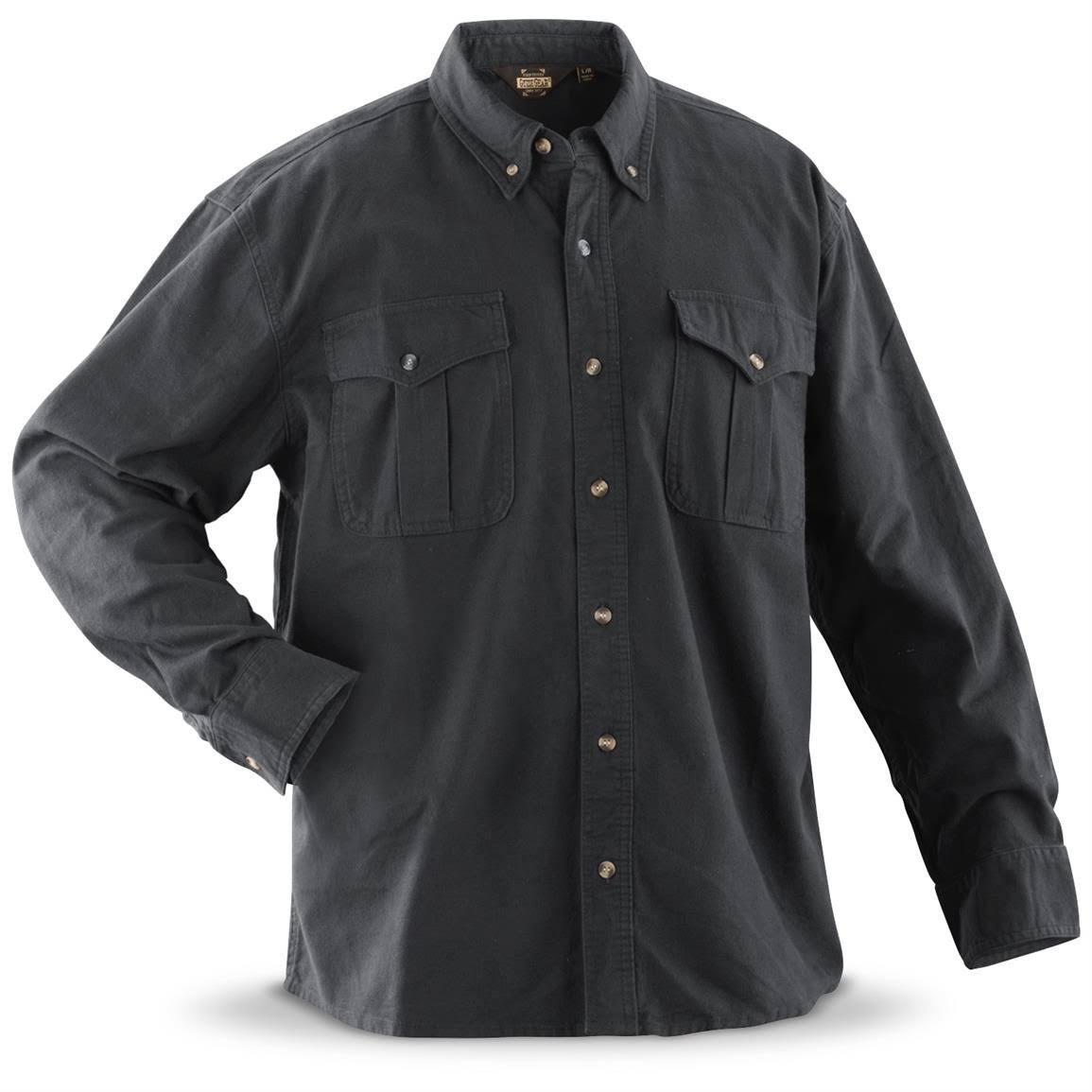 Regular Gear Hombre Gamuza De Talla Guide Asfalto Algodón Para Camisa Xl TCwqW