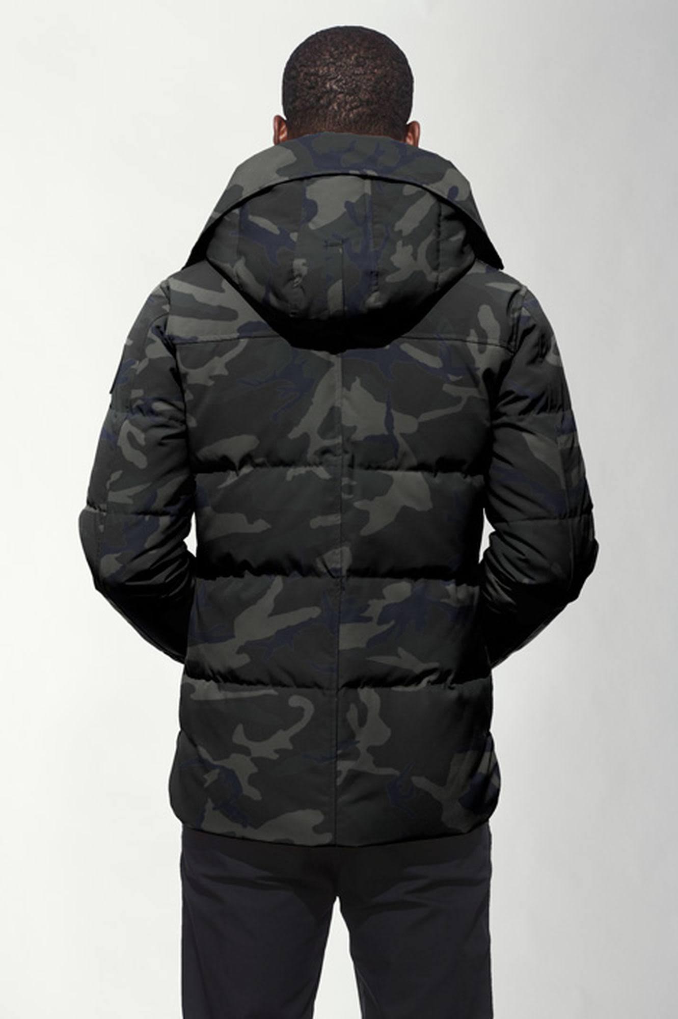 hombre Clásico Parka Macmillan L Label Goose Black Canada Camo Spw11q