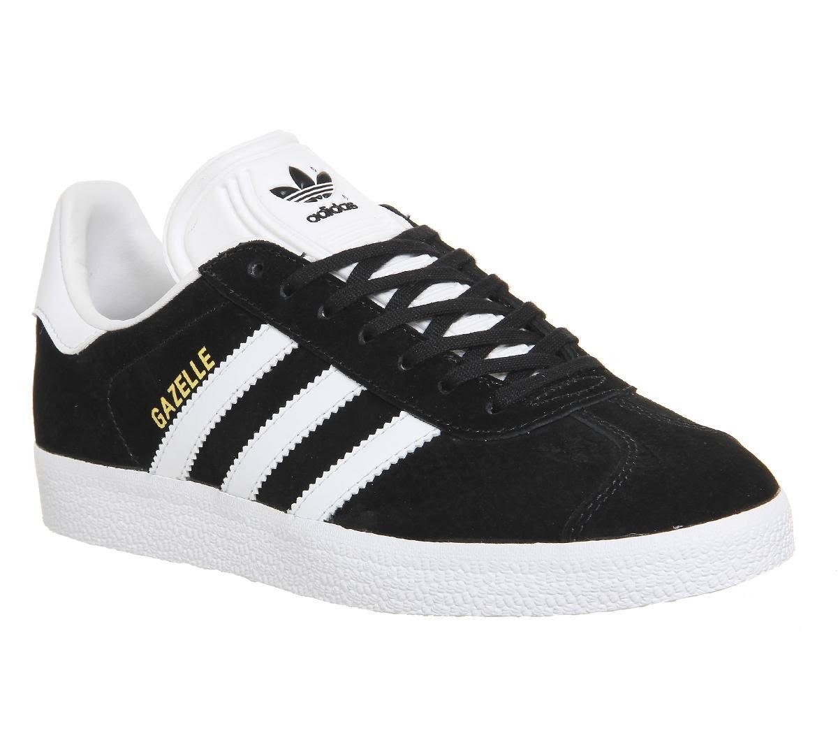 Adidas Mens Gazelle CORE BLACK WHITE