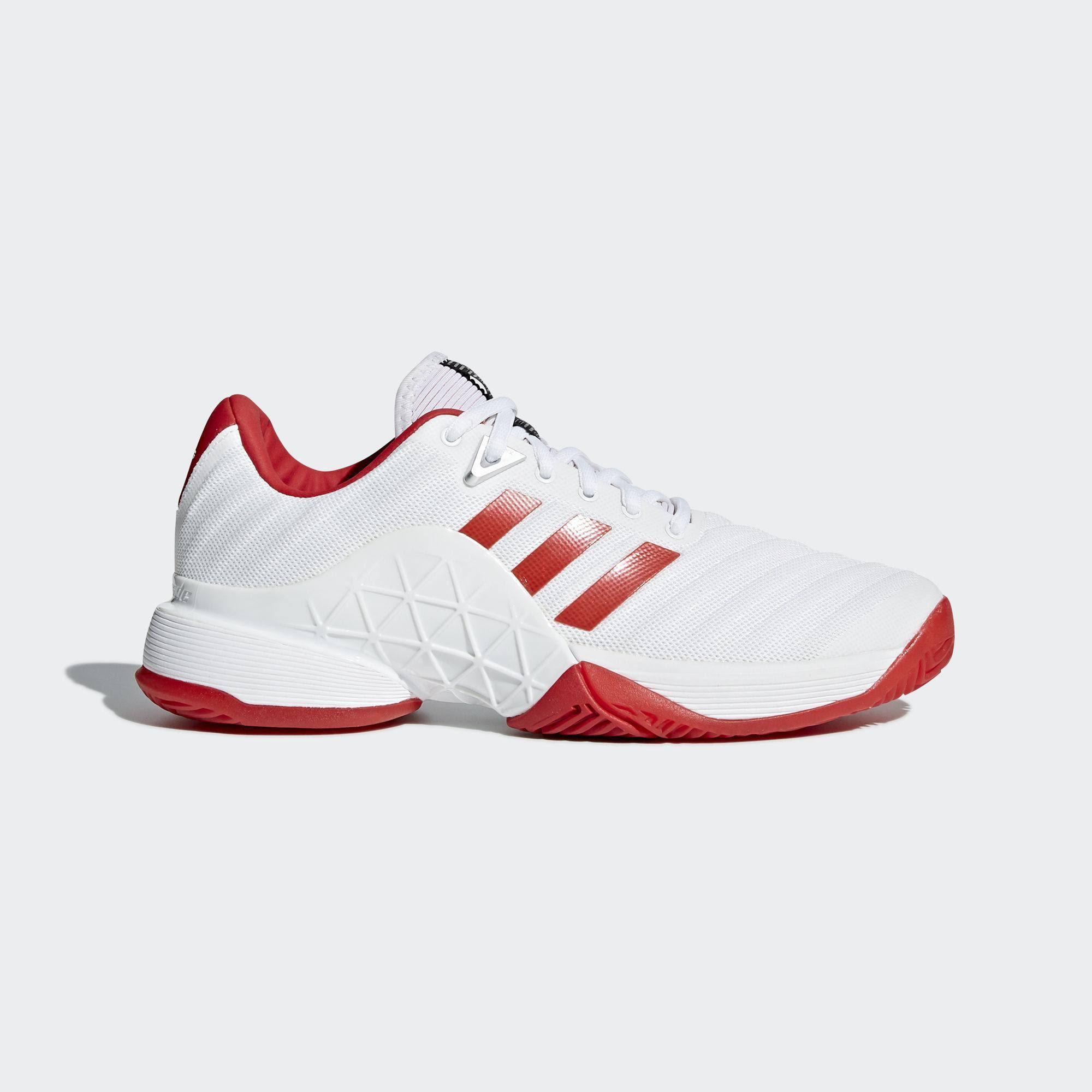 Adidas Womens Barricade 2018 Tennis Shoes - White UK 7