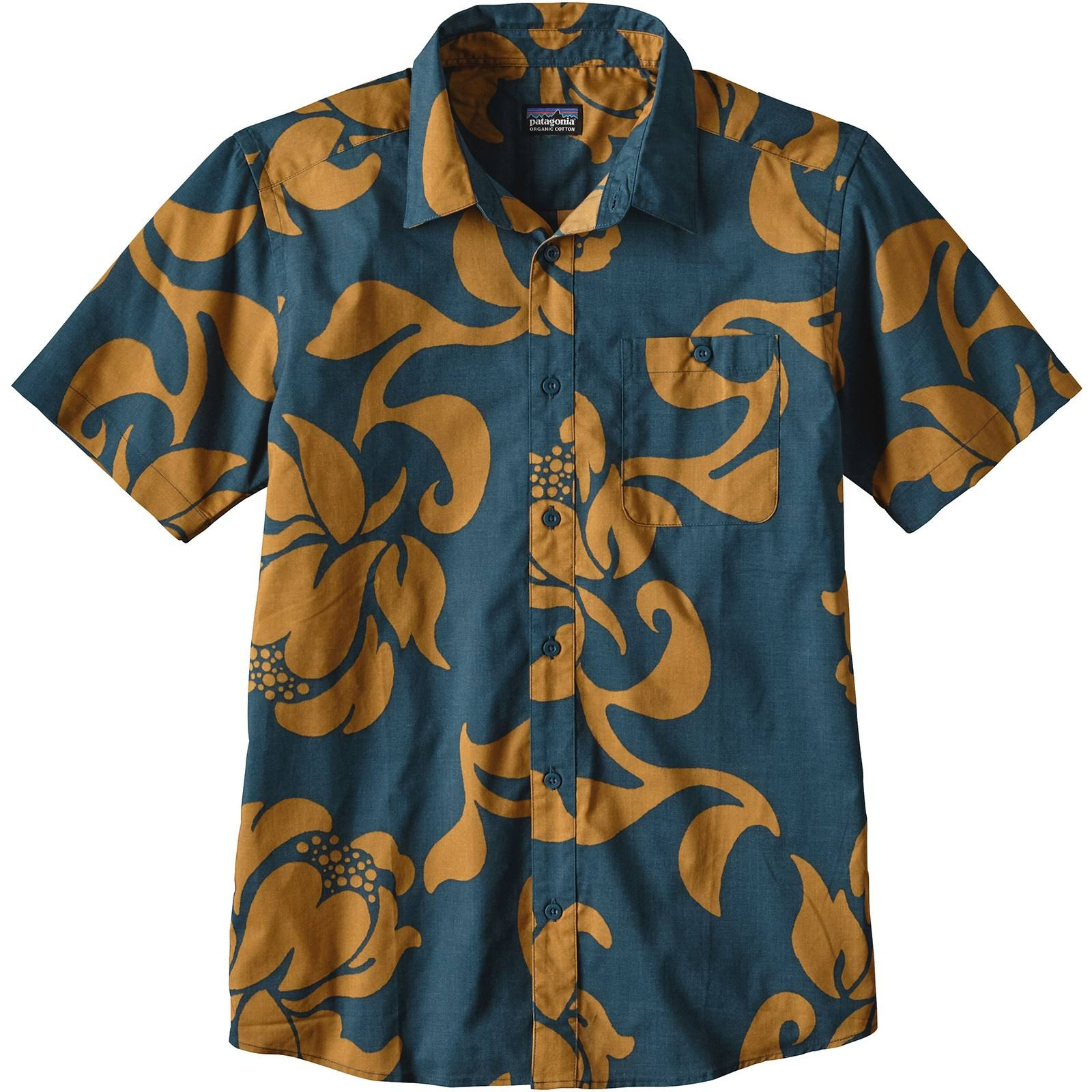 Exotic Patagonia Blue To Bay Mittel Go Floral Herren Shirt qwPXp4Fw