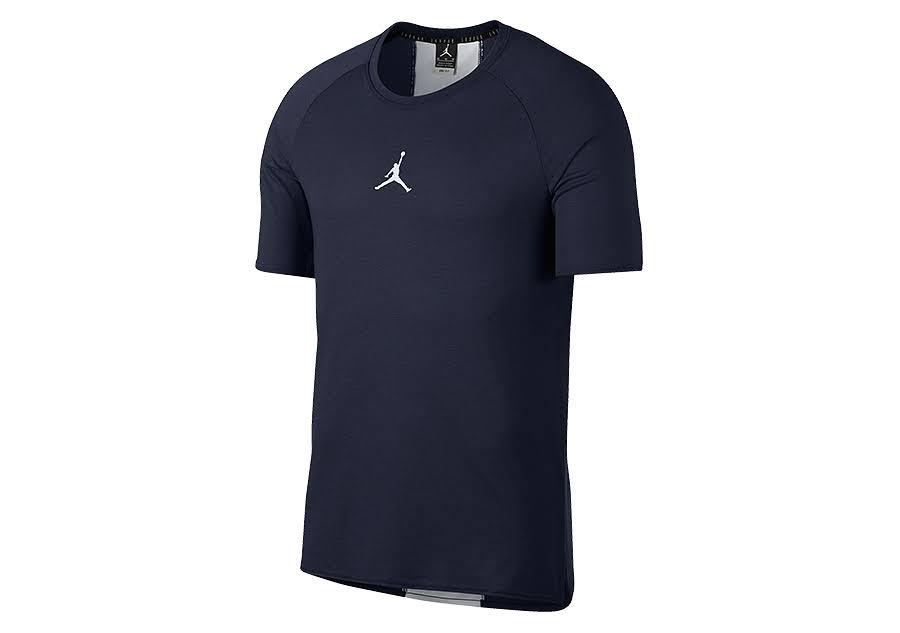 23 De Alpha Para Hombre Corta Jordan L college Talla Navy Manga Camiseta Entrenamiento 1UTHwnx