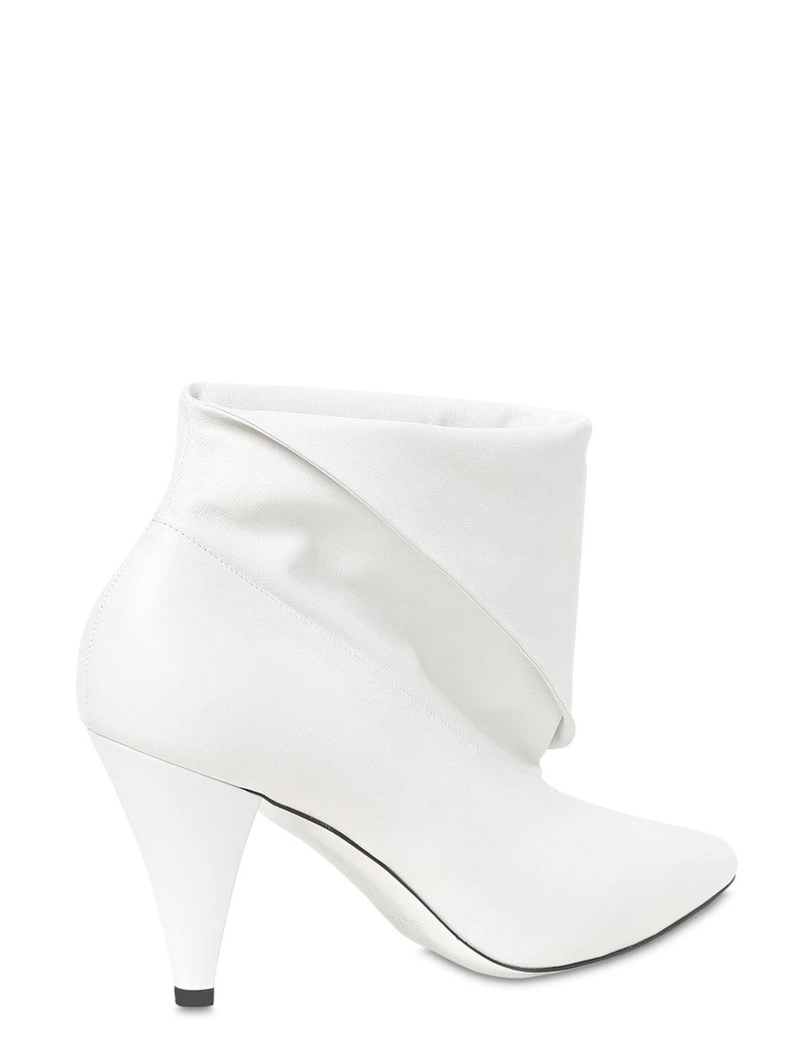 GivenchyStivaletti 37 donna in bianco 5 pelle 80mm 29DEIWH