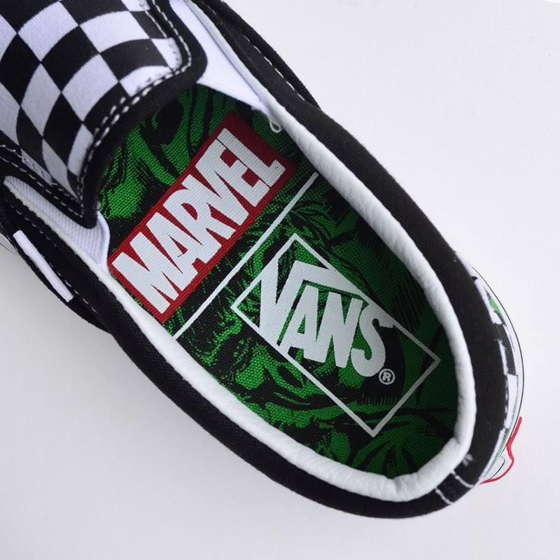 Vans Slip On Marvel Tênis Classic Hulk Vn0a38f7u44 Checkerboard dtwqIg