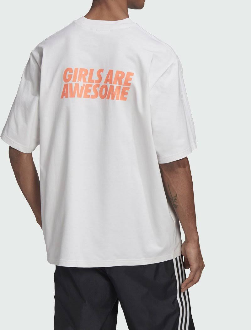 Adidas Girls Are Awesome T Shirt - Womens - White