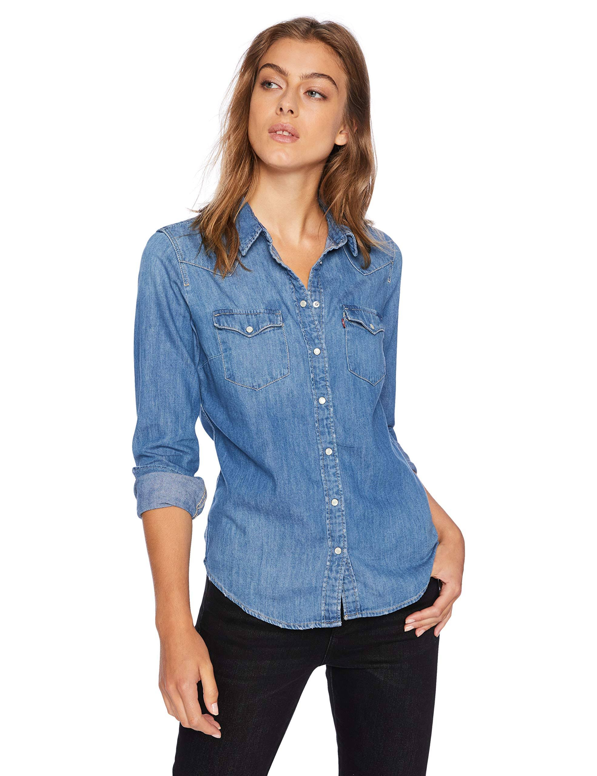 Camisa La Blue Ultimate De Large Levi's Love Western drvrzP