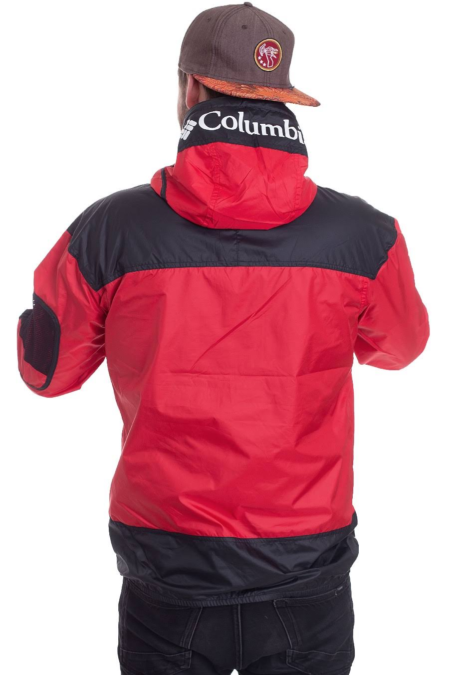 White Mountain Windbreaker Red amp; Black Columbia Challenger EwO7q6nY