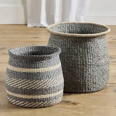 Round Raffia Baskets - Ballard Designs
