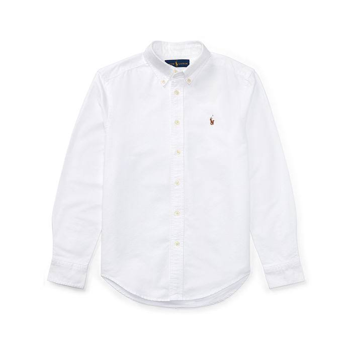 Weiß Boys Oxford Sport 8 Shirt Junior Baumwolle 20 0qBgTwT