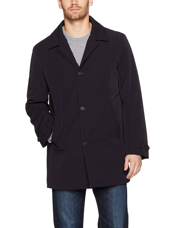 Alto Regular Cuello Impermeable De Klein Hombre Chaqueta Talla Negro Calvin Para 40 PxtSOwOq4