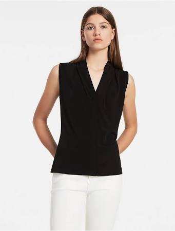 Noir Xs Camisole Petite À V En Klein Calvin Carrée Col Femmes Pour SvwrzSPq