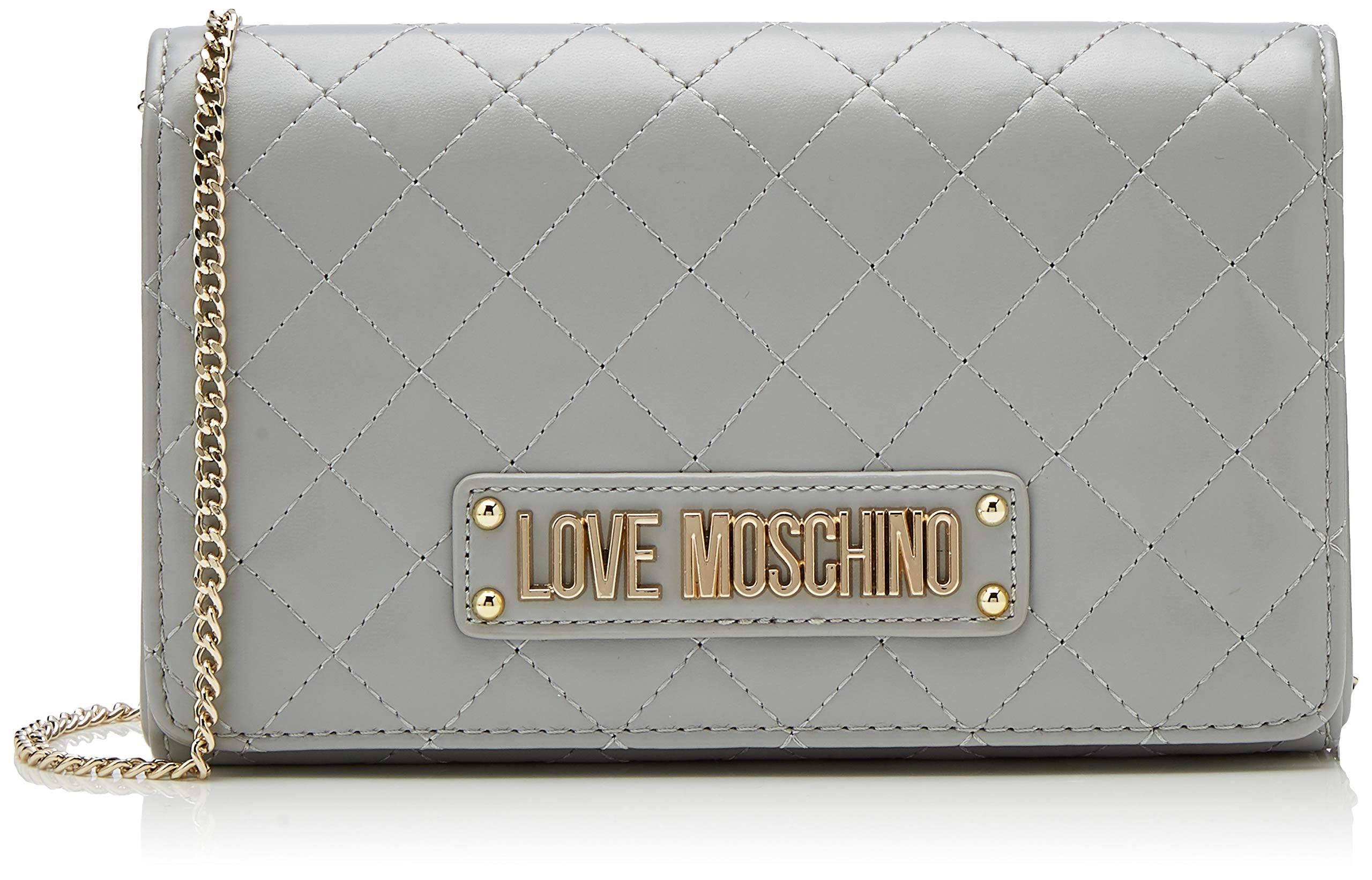 Damen Clutch15x10x15 Moschino Pu Love Graugrigio Quilted Nappa Centimeters qUzVpSLMG