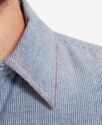 Blau Mit Flanellhemd Vintage Nadelstreifen Wetterfestes Xl Herren xTnXRRdEwq