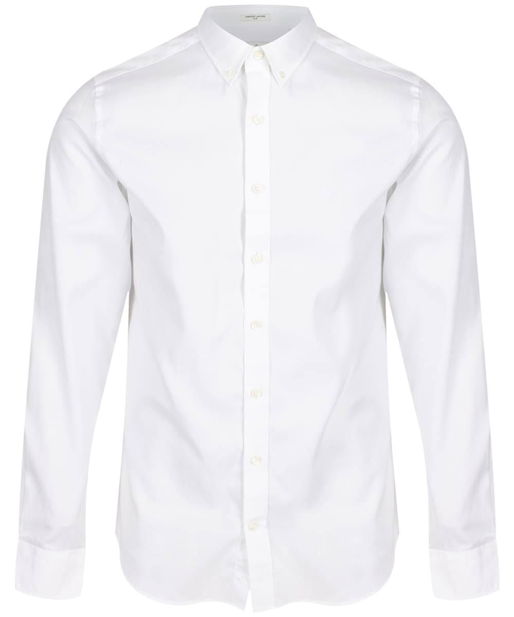 Hombre Slim Camisa Blanco Oxford Pinpoint Gant Para Fit qzaS8
