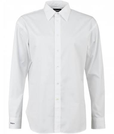 Lauren Aus Übergroßes Polo Baumwolle Ralph 10 Baumwollhemd Weißes 5xfXBXT