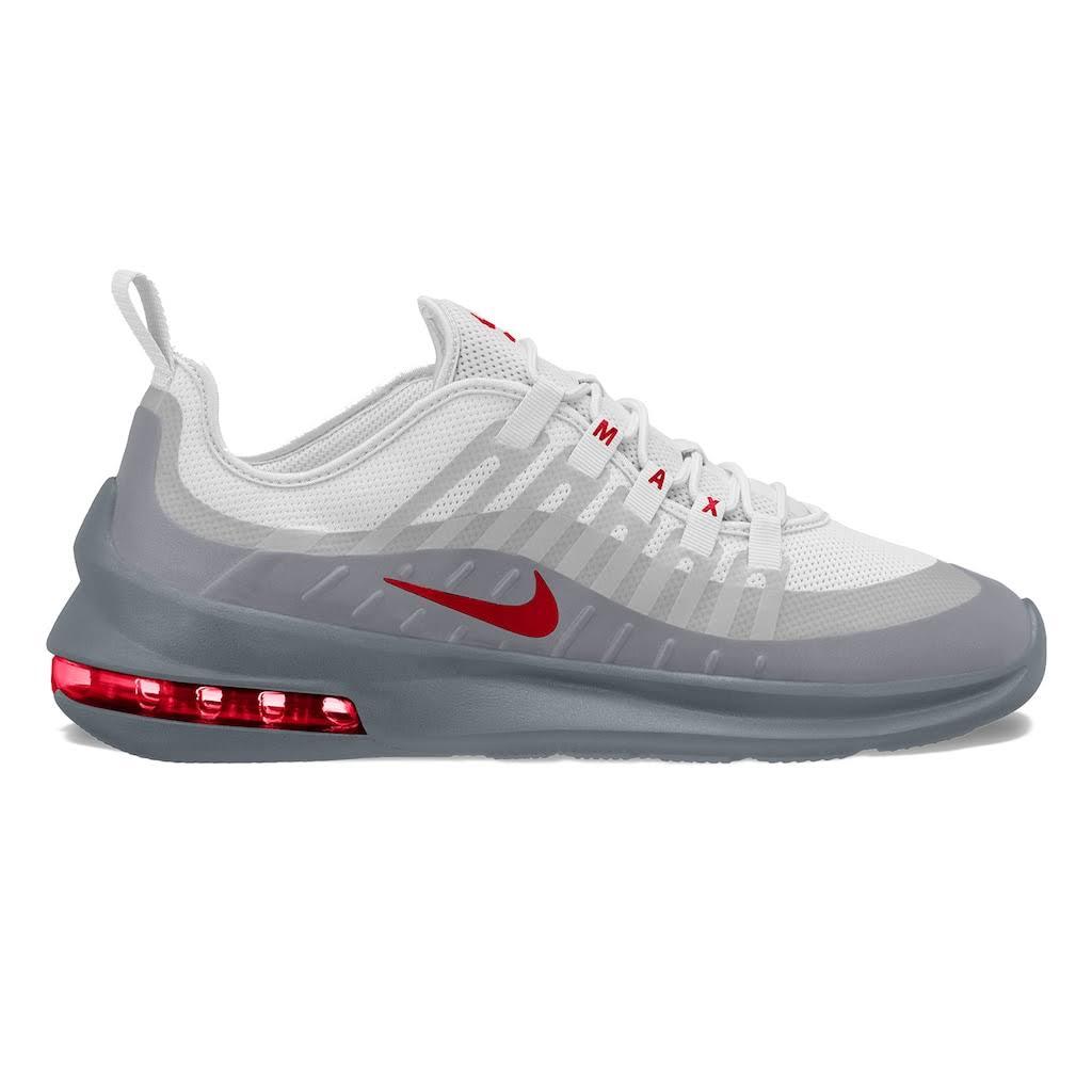Max Air Para Zapatillas Blanco Gris Axis De Hombre Running Nike Rojo wqPwIABcH