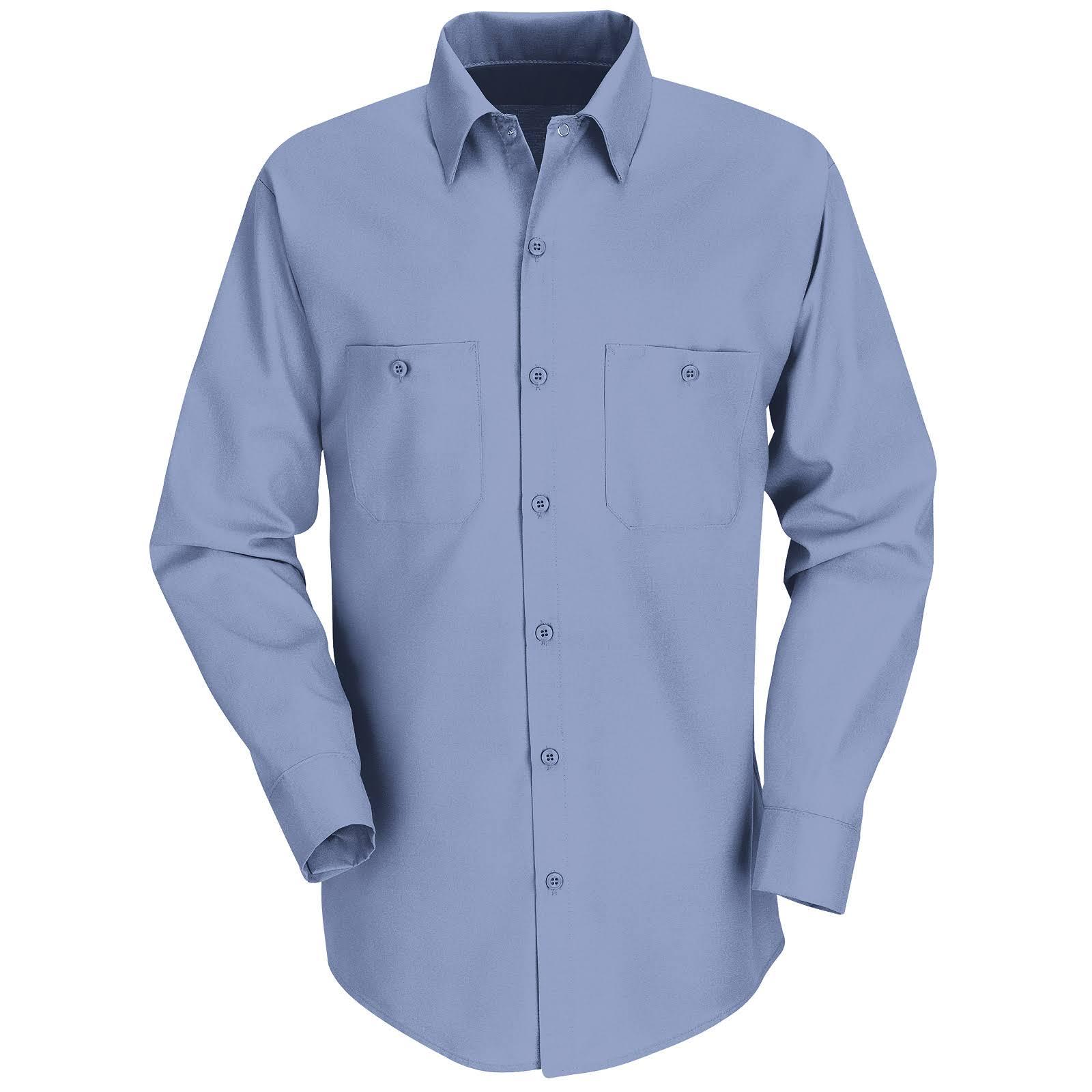 Industrial Red Trabajo M; Regular Para Kap Rg Hombre X Azul Camisa Claro De FqEpwxCX