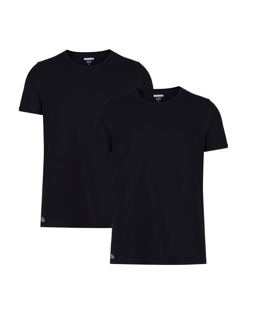 2 Cuello Negro De Para Con Camisetas Lacoste Redondo Hombre Paquete 1Uqg77