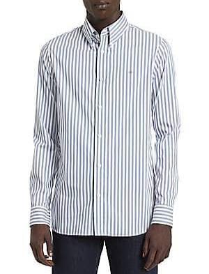 Elástico Cadete Algodón Descolorido Xl De Klein Para Calvin Camisa Con Azul Rayas Hombre qTZEn