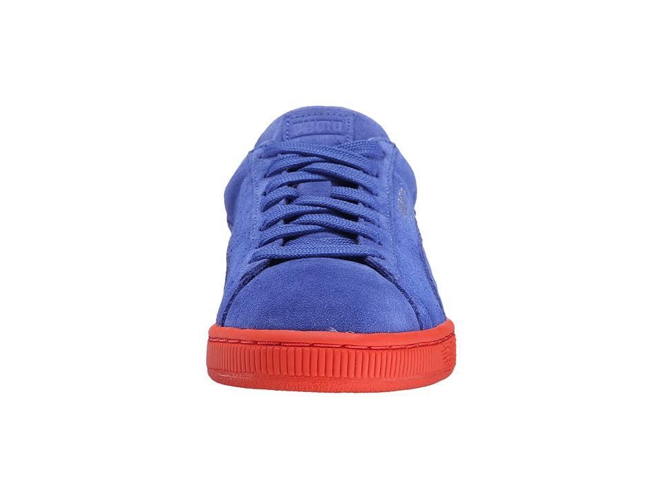 Puma Women Round 360249 Blue Toe Suede 03 Classic Stripes UqZFwxUfTr