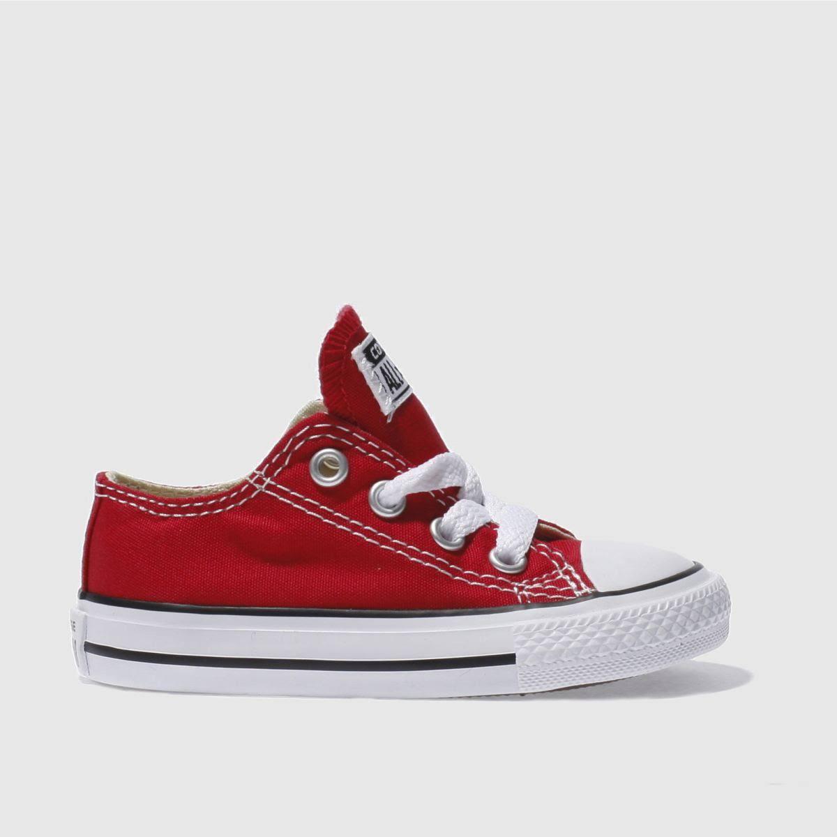 Converse Lo Bambino Red Trainers Di Star All rxstQCdh