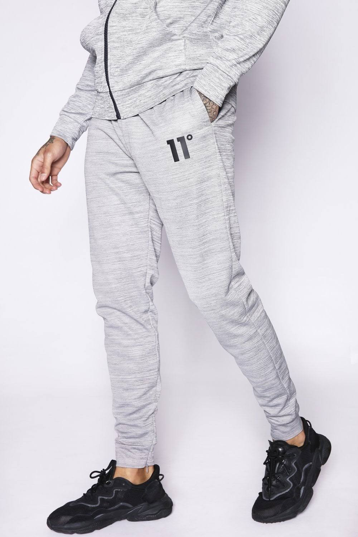 11 Degrees Poly Track Pants - Concrete Marl Size: L