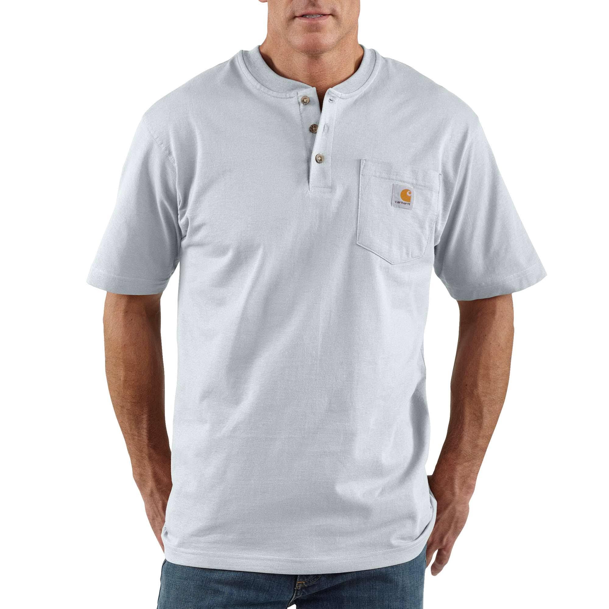 Tamaño En Punto 4xl Tiendas Camiseta El Tall Original Ajuste Gris Escenario Sólido De Carhartt Mw amp; Con Jersey Color Big Claro Workwear qS6UU0